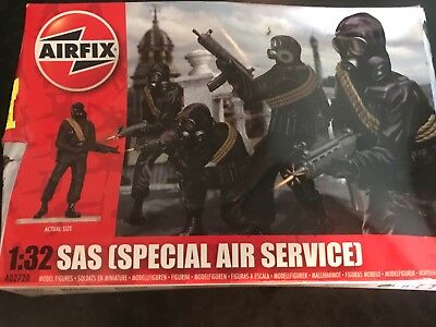 Airfix  1/32 Scale British Sas Plastic Toy Soldiers - Boxed