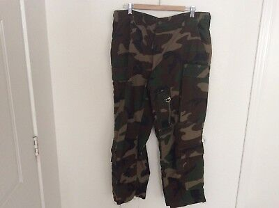 US Army Marine Corps Trousers Woodland Combat Air Crew FR Size Large Reg Authent