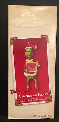 Hallmark CHANGE OF HEART - Dr Seuss's How the Grinch Stole Christmas, Dated 2002