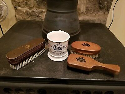 Rare Old Spice collectables Beard Brushes, shoe brush/grooming essentials & mug
