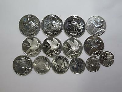 Trinidad And Tobago $5 $1 50 Cents Birds Mixed Date World Coin Collection Lot
