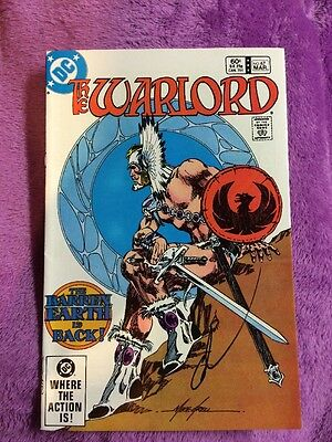The warlord #67 rare bronze age signed by gary cohn dc comics comic book vintage