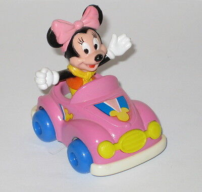 Minnie Mouse ARCO Plastic Figure & Die Cast Car - 2-Piece VINTAGE Set