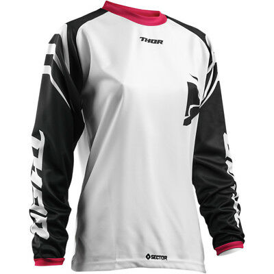 Thor Sector Zones Womens MX Offroad Jersey Black/White XL