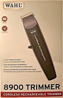 Wahl Professional #8900 Cordless Rechargeable Trimmer, Black  Lightweight USA !