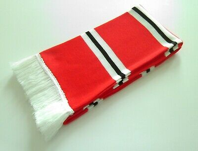 Manchester United Scarves - Red/White/Black Colours Retro Man Utd Football Scarf