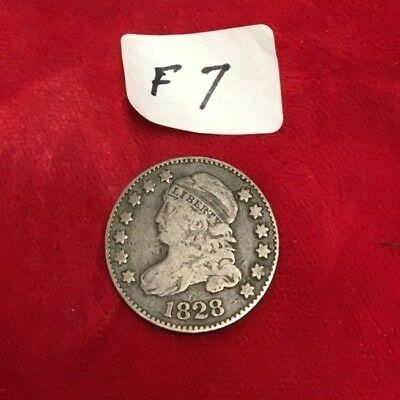 1828 Lg Date Capped Bust Dime Fine Condition  F7