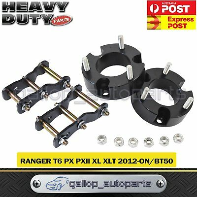 "Fit Ford Ranger PX XL 12+ 35mm Spacer 2"" Shackle Front+Rear Suspension Lift Kit"