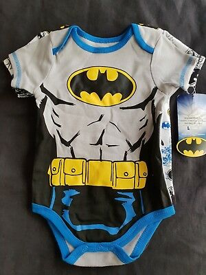 Boys new twin pack BATMAN rompers size 0