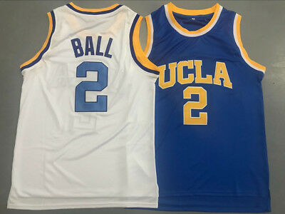 31f959ab842d LONZO BALL  2 UCLA Bruins College BasketBall Jersey NCAA White Blue ...