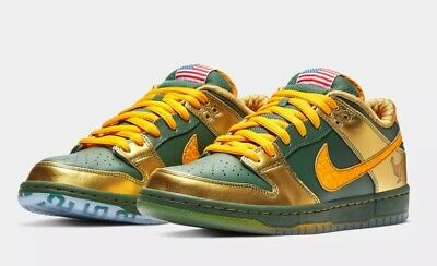 54aade9e2d27 Nike SB Dunk Low Pro DB gold Doernbecher Freestyle Green Joey Bates 2018  Size 15