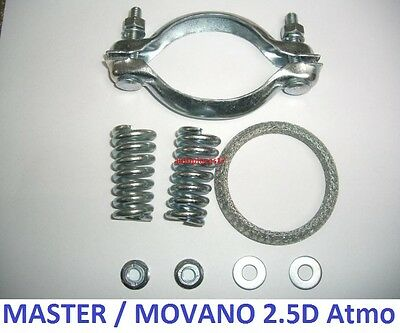 Kit Montage + Joint Tube Echappement Catalyseur Master Movano 2.5D Atmospherique