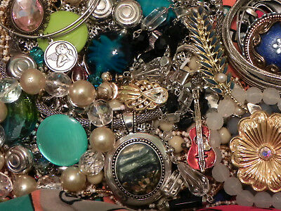 Estate Sale Lot of Vintage to Modern Jewelry, #806, Some Signed
