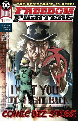 Freedom Fighters #1 (Of 12) (2018) 1St Printing Barrows Main Cover Dc Universe