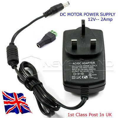 12v DC Motor Power supply - Supply up to 2 Amp at 12 Volts from Mains - in UK