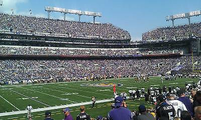 Baltimore Ravens vs Bucs,  2 lower level seats; 5 rows from the field! 12/16
