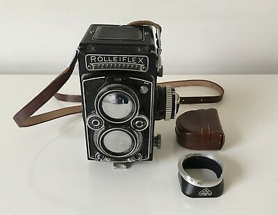 ROLLEIFLEX 3.5E TYPE 1 TLR Medium Format Camera With Lens Hood In VGC