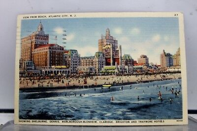 New Jersey NJ Atlantic City Shelburne Dennis Marlborough Blenheim Postcard Old