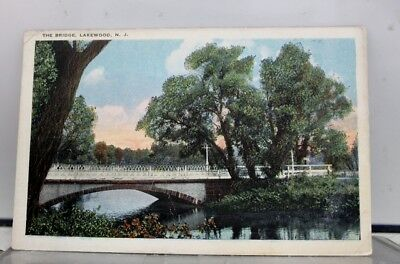 New Jersey NJ Lakewood Bridge Postcard Old Vintage Card View Standard Souvenir