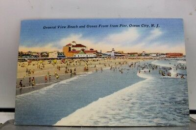 New Jersey NJ Ocean City Pier General Postcard Old Vintage Card View Standard PC