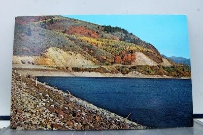 Scenic Palisades Dam Red Maple Fall Colors Postcard Old Vintage Card View Post