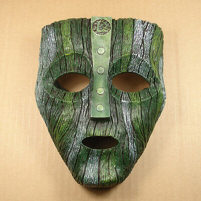 Nice NEW Resin Replica The Mask Loki Mask With Stripe Halloween Mask JH01