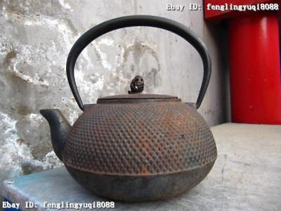 7 Japan Classical Folk vintage collection Old iron made Flagon kettle teapot Pot