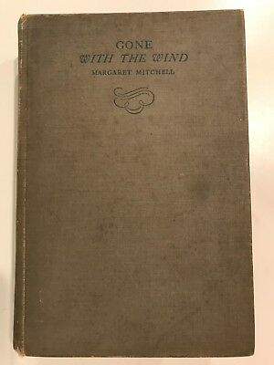 1936 signed Margaret Mitchell GONE WITH THE WIND 1st Edition Early Printing Book