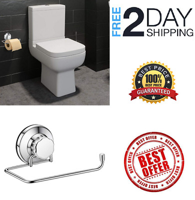 Toilet Paper Holder Stainless Steel Roll Dispenser Vacuum Suction Wall mounted