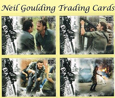 The Walking Dead - HUNTERS & THE HUNTED ☆ BATTLES ☆ Insert Cards #EB-1 to #EB-11