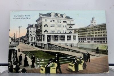 New Jersey NJ Atlantic City St Charles Hotel Postcard Old Vintage Card View Post