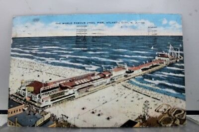 New Jersey NJ Atlantic City Steel Pier Postcard Old Vintage Card View Standard