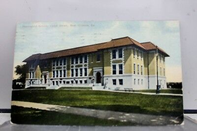 Louisiana LA New Orleans Canal Street Beauregard School Postcard Old Vintage PC