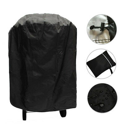 Waterproof Round Kettle BBQ Grill Barbecue Cover Garden Patio UV Resistant Black