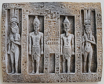 Fragment Ramses and Nefertari Abu Simbel Wall Plaque Ancient Egyptian