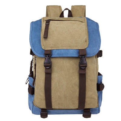 Vintage Canvas Backpack Rucksack Unisex Causual For School Travel Hiking NEW US