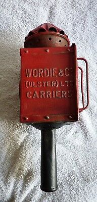 Antique Wordie & Co. Ulster - coach lamp – Irish - Victorian / Edwardian ?