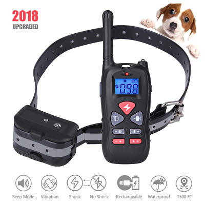 Remote Dog Training Collar 1500ft Waterproof and Rechargeable Electric NEW US