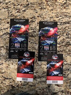 2 (Two) 2018 Chick-fil-a Peach Bowl Tickets (Lower Level) and 2 Fan Fest Tickets