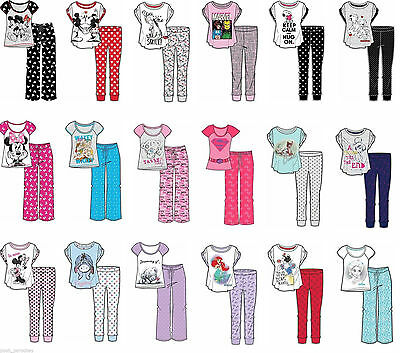 Ladies Girls Character Pyjama Set Nightwear Pjs Novelty Disney Marvel Pyjamas
