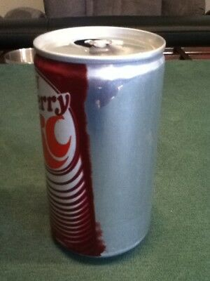 Misprint on Diet Cherry RC Cola aluminum soda can. Only 1/3 of the label shows.