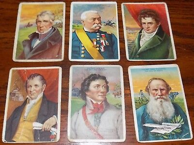 Lot Of 6 1911 Miners Tobacco Bengals Cigar HEROES OF HISTORY Cards Gen. Sheridan