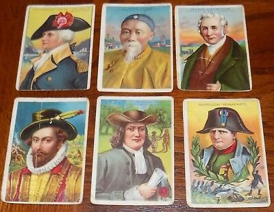 Lot Of 6 1911 Miners Tobacco Bengals Cigar HEROES OF HISTORY Cards Napoleon