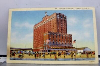 New Jersey NJ Atlantic City Ritz Carlton Hotel Postcard Old Vintage Card View PC