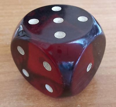 Vintage Art Deco Cherry Amber Bakelite Dice Germany 44 grams