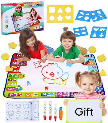 Magic Water Drawing Mat for Toddlers Large Size 30.7 X 30.7 Inch 7 Color NEW US
