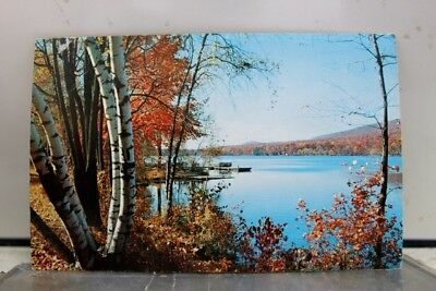 New Jersey NJ Sussex County Fairview Lake October Postcard Old Vintage Card View