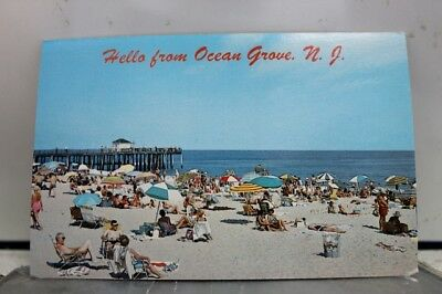 New Jersey NJ Ocean Grove Beach Hello Postcard Old Vintage Card View Standard PC