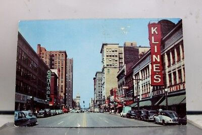 Ohio OH Youngstown Federal Street Postcard Old Vintage Card View Standard Post