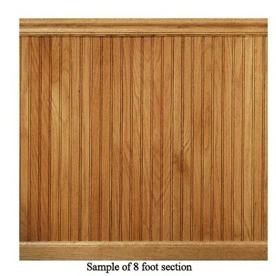 8 lin. ft. Red Oak Tongue Groove Wainscot Paneling Kit Includes Highly Rated